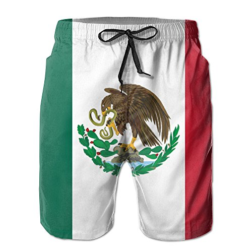 UNIQUE Pants Mexico Flag Men's Quick Dry Beach Board Shorts Summer Swim Trunks for Father's Day for Boy Swimming