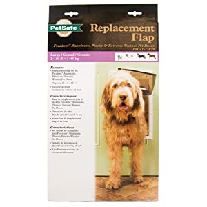 PetSafe Dog and Cat Door Replacement Flap - Small - 5 1/8 in x 8 7/8 in - SKU# PAC11-11037,Brown 29