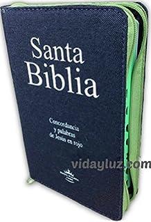 Biblia Letra Grande Jean con Cierre y Concordancia, Reina-Valera 1960 Tela Jean con