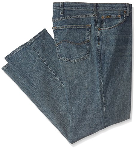 Lee Men's Big-Tall Premium Select Custom Fit Relaxed Straight Leg Jean, Serpent, 44W x 32L