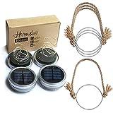 Homeleo 4Pack Mason Jar lid lights with hangers