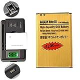 Gold Extended Samsung Galaxy Note 3 High Capacity Battery B800BC B800BE B800BU +