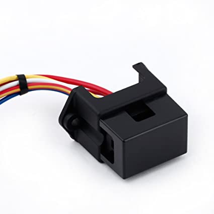 amazon com kkmoon 4 way dc32v circuit car trailer auto blade fuse rh amazon com