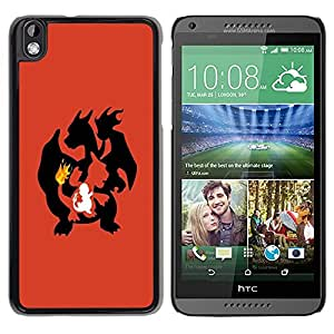 Impact Case Cover with Art Pattern Designs FOR HTC DESIRE 816 Poke Flaming Dragon Betty shop