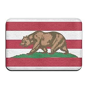 Bandera de California oso antideslizante impreso Felpudo Alfombrilla de Entrada, 40cm60cm