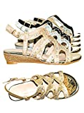Aquapillar Children Girls Glitter Rhinestone Open Toe Party Wedding Dress Sandal