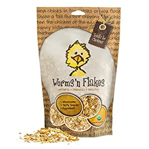 Treats For Chickens Certified Organic Worms N Flakes Treat, 1-Pound, 13 Oz 117