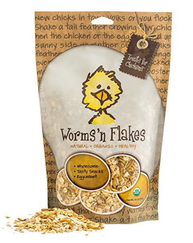 Treats for Chickens Certified Organic Worms N Flakes Treat, 1-Pound, 13 oz by Treats For Chickens