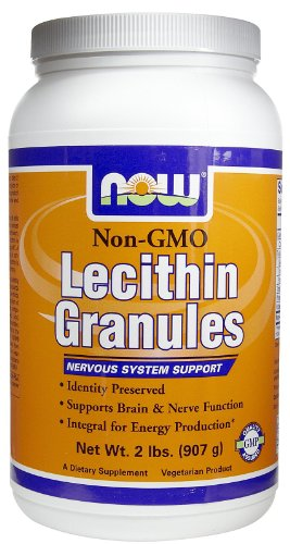 Lecithin, GRANULES NON-GMO, 2 Lb by Now Foods (Pack of 6) by NOW Foods