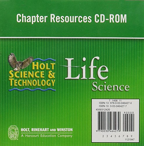Holt Science & Technology: Chapter Resources CD-ROM Life Science