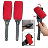 Original 2 Pack Swivel Magic Lint Brush Clothes Fabric Pet Hair Dust Dandruff Remover Cleaner, Eliminates the need to use a vacuum or costly sticky rollers and refills