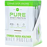 Pure Whey Protein Powder by SFH | Best Tasting 100% Grass Fed Whey | All Natural | 100% Non-GMO, No Artificials, Soy Free, Gluten Free (Churro, 10 Single Serve Pouches)