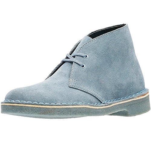 Clarks Desert Boot, Derby Femme Blue Grey