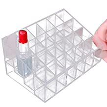 Coromose Clear Acrylic 24 Lipstick Holder Display Stand Cosmetic Organizer Makeup Case