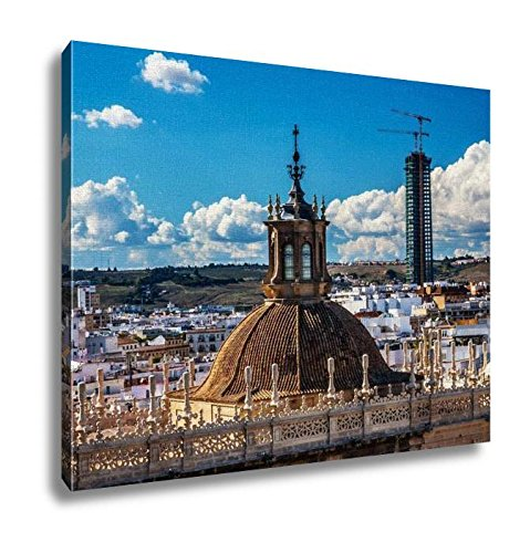 Ashley Canvas, City View From Giralda Tower Dome Seville Cathedral Spain, Home Decoration Office, Ready to Hang, 20x25, AG6375175 by Ashley Canvas