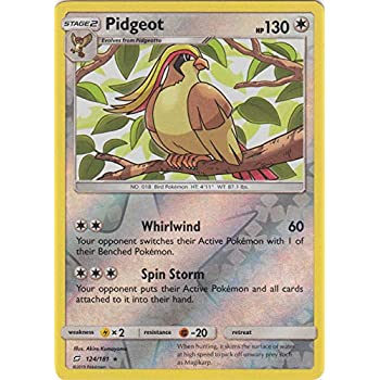 Rare Pokemon Pidgeot 124//181 Reverse Holo NM-Mint Team Up