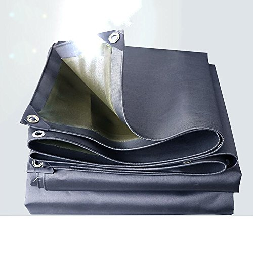 MEIDUO Tarps Heavy Duty Tarpaulin, High Density Woven Polyethylene 0.7MM -530 g/M², Blue- 100% Waterproof and UV Protected (Color : Gray, Size : 4x8m)