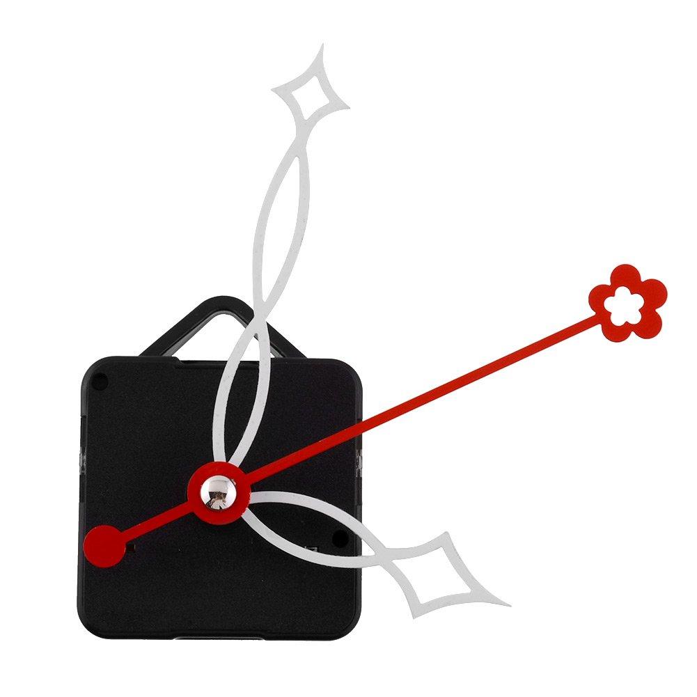Kicode Meccanismo di movimento dell'orologio di DIY Con la mano bianca e la seconda mano rossa