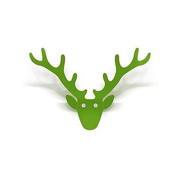 radius design mini trophae hirschgeweih garderobe grun klein