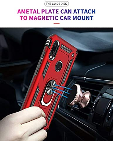 for Xiaomi Redmi Note 7 case Hard Shell Military Grade Duty Protective Cover with Holder Ring Cases for Magnetic Car Mount