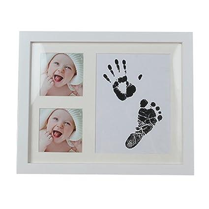 recién nacido bebé Handprint y huella Kit de fotos marco Kit de ...