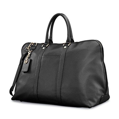 Samsonite Ladies Leather Weekender Black