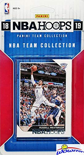 Card Team Basketball Set (Oklahoma City Thunder 2018/2019 Panini Hoops NBA Basketball EXCLUSIVE Factory Sealed Limited Edition 9 Card Team Set with Russell Westbrook, Paul George, Steven Adams & Many More! WOWZZER!)