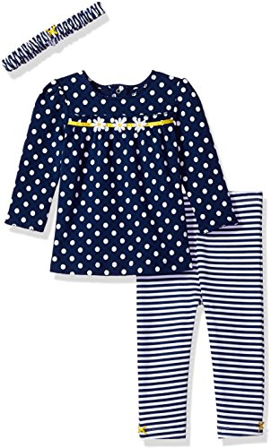 Little Me Baby Girls' Tunic Legging Set with Headband, Navy Daisy new, 9 Months - New Baby Daisy