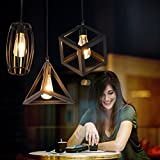 RLYYBE Ceiling Lamp Vintage Industrial 3-Head Led Ceiling Light with Iron Shade for Living Room Bedroom Studying Room Dining Room Entry Hallway Kitchen Kids Room Diameter 600mm*900mm