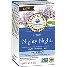 Traditional Medicinals Organic Nighty Night Valerian, 20-Count