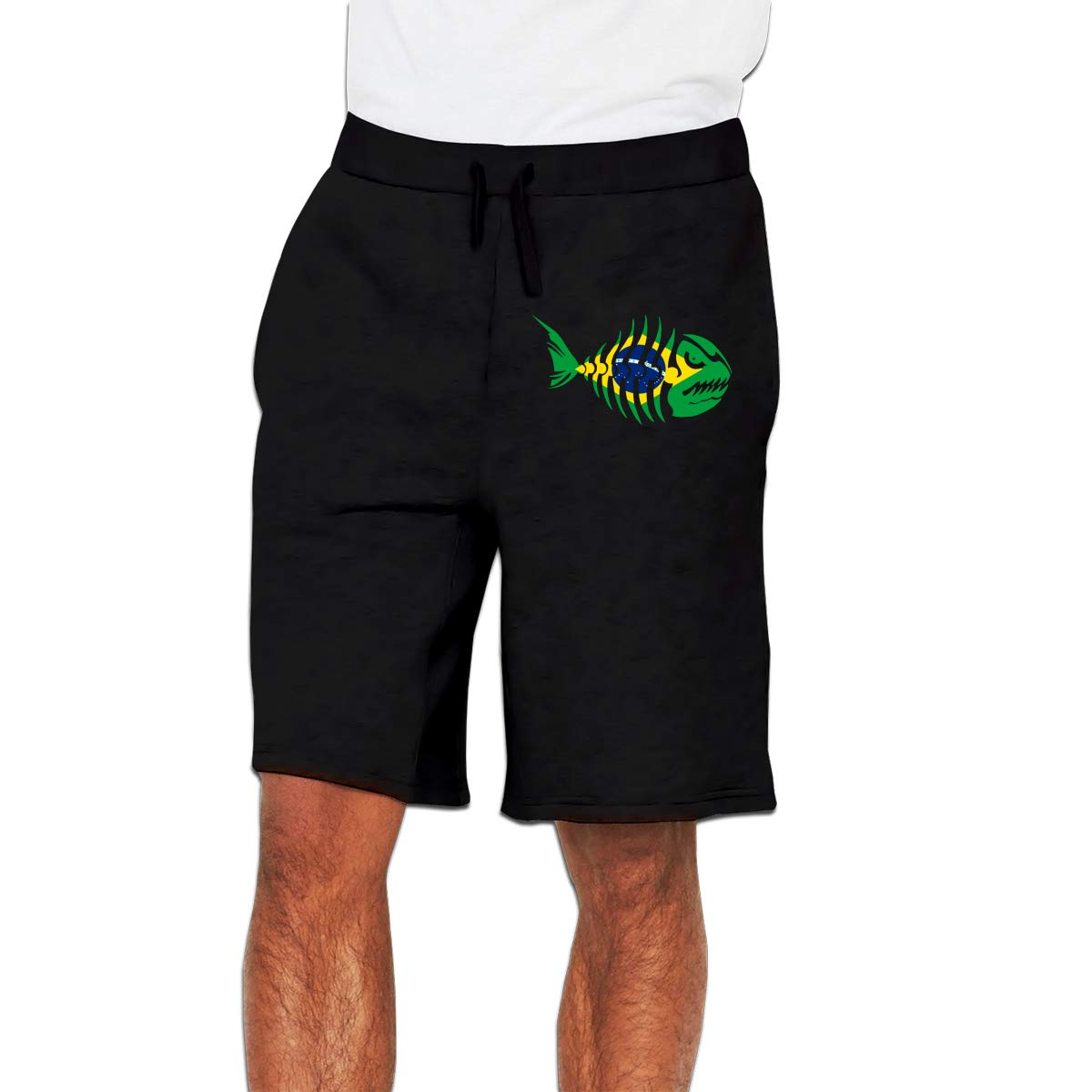 YDXC2FY Mens Shorts Club Shorts with Elastic Waist Drawstring