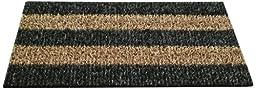 GrassWorx Patio Stripe Doormat, 18 by 30-Inch, Root Beer