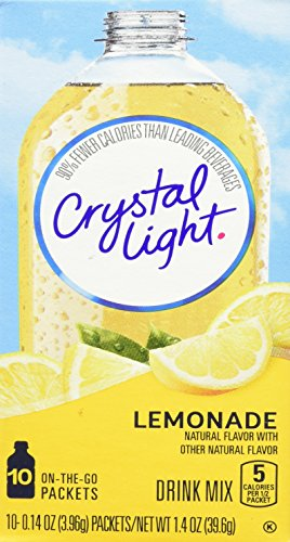 Crystal Light Juice - Crystal Light On The Go Drink Mix, Natural Lemonade, 10 Count
