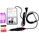Nail Drill, PeleusTech Professional Electric Nail Art Salon Drill Glazing Nail Drill Acrylics Fast Machine Manicure Pedicure Tool Kit with Low Noise and Vibration, Fuse Replaceable
