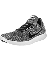 Women's Free Running Motion Flyknit Shoes, Black - 10...