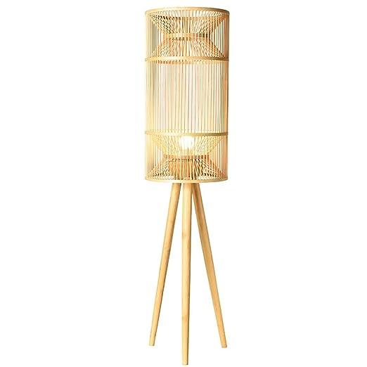 Lampara de pie Tejido de Seda de bambú Moderno Estudio de ...