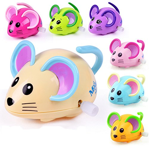 (Bluelans Cute Cartoon Animal Rat Wind Up Toy Running Clockwork Mouse Baby Kids Gift for Kids Boys Girls Xmas Gifts Xmas Stocking Fillers Party Bag)