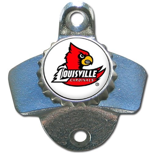 Wall Mounted Bottle Opener - NCAA Licensed - Louisville Cardinals Collectibles (Cardinals Wall Mounted Bottle Opener)
