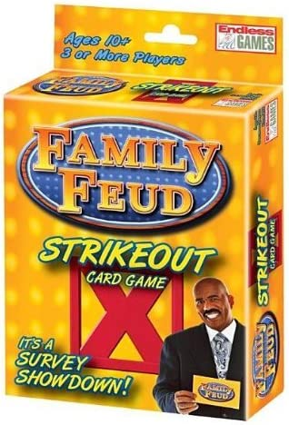 Endless Games Family Feud 6th Edition Set Bundle Includes Strikeout Card Game,
