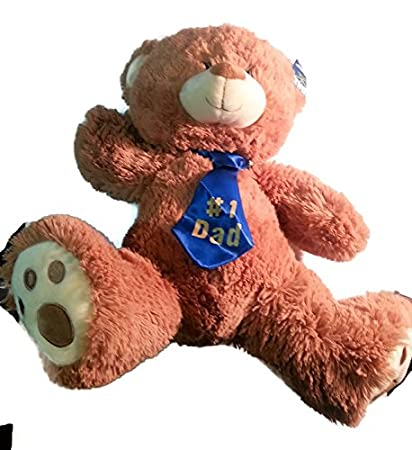 Plush Bear (Oso De Peluche) With Tie (# 1 Dad) - Light