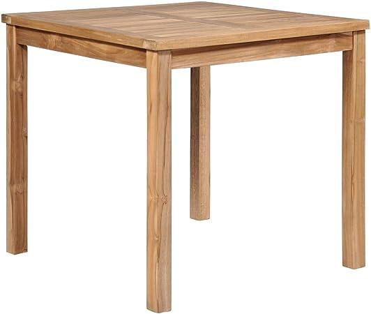 ghuanton Table à dîner d\'extérieur 80x80x77 cm Bois Solide ...