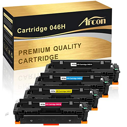 Arcon Compatible Toner Cartridge Replacement for Canon 046 Canon Cartridge 046 046H CRG 046 046H Canon mf733cdw 046 Canon Color ImageCLASS MF733Cdw, ImageCLASS MF731Cdw, ImageCLASS MF735Cdw LBP654Cdw Canon Replacement Color Ink