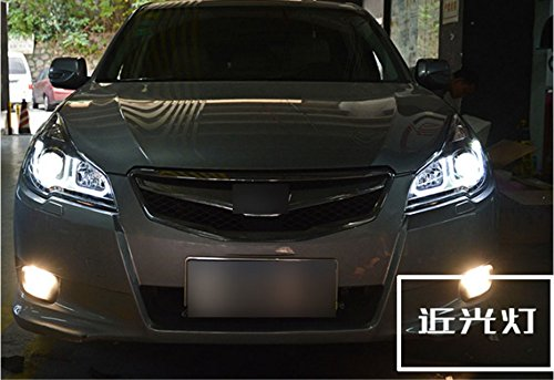 GOWE Car Styling For Subaru Outback 2010-2014 for Outback head lamp LED DRL Lens Double Beam D2H HID Xenon bi xenon lens Color Temperature:8000K;Wattage:35K 4