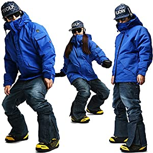 South play Mens Waterproof Military Ski-Snowboard Blue Jacket  ...