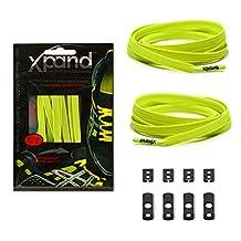 Xpand Laces Customizable No-Tie One Size Elastic Shoelaces - Lemon Lime