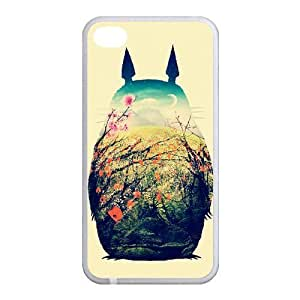 Hand Painted Animal Cartoon Series Totoro Color Design Popular Coral Custom Luxury Cover Case For Iphone 5 and 6 4.7(White) with Best Silicon Rubber ALL MY DREAMS