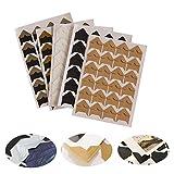 DIY Paper Stickers, YIGO 240 pcs/lot (10 Sheets) DIY Vintage Corner Kraft Paper Stickers for Photo Albums Frame Decoration Scrapbooking (Multi-Color)