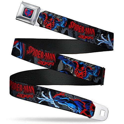Marvel Amazing Spiderman Seatbelt Belt - 2099 #1 Cover Action Poses