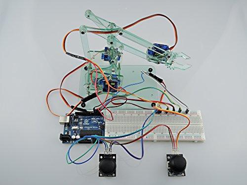 [Sintron] Mini industrial de zona de robots industriales del brazo Kit, mecánico del brazo & DIY robot Toy + Servos Joysticks UNO R3 Laser Cut components ...