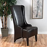 Haddone Brown Leather Dining Chair